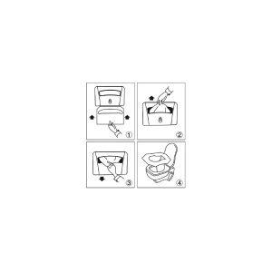 4 Packs Cobertores de asiento descartable con 250 unidades c/u mas 1 Dispensador -329