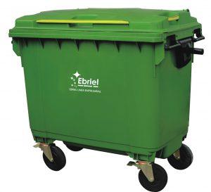 Contenedor de basura - 4 ruedas - 660 litros